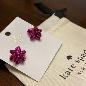 Kate Spade Hot Pink Bourgeois Bow Earrings